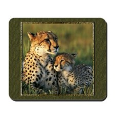 Cheetah Mother And Baby Mousepad