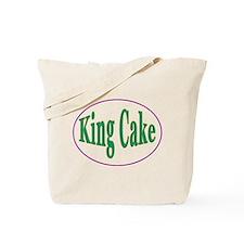King Cake Oval Tote Bag