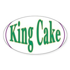 King Cake Oval Oval Decal