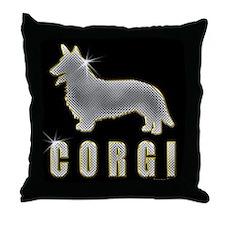 Bling Corgi Throw Pillow