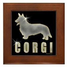 Bling Corgi Framed Tile