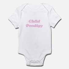 Child Prodigy Pink Text Infant Creeper