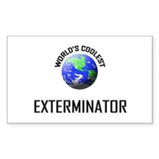 World's Coolest EXTERMINATOR Rectangle Decal