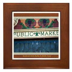 Henderson Street Market Framed Tile