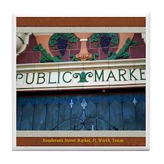 Henderson Street Market Tile Coaster