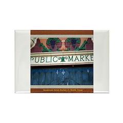 Henderson Street Market Rectangle Magnet