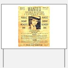 Wanted Creepy Karpis Yard Sign