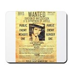 Wanted Creepy Karpis Mousepad