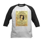 Wanted Creepy Karpis Kids Baseball Jersey