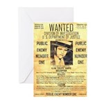 Wanted Creepy Karpis Greeting Cards (Pk of 20)