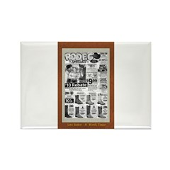 Let's Rodeo! Rectangle Magnet