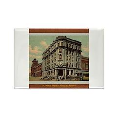 Old Fort Worth Rectangle Magnet