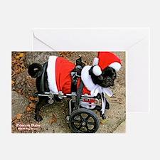 Santa on Wheels Greeting Card