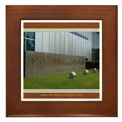 Modern Art Museum Framed Tile