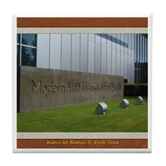 Modern Art Museum Tile Coaster