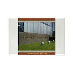 Modern Art Museum Rectangle Magnet