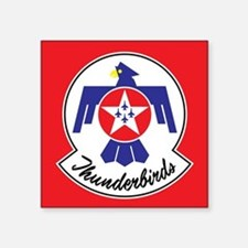 """Air Force Thunderbirds Square Sticker 3"""" x 3"""""""
