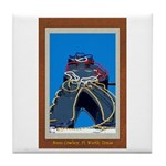 Neon Cowboy Tile Coaster