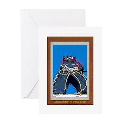 Neon Cowboy Greeting Card