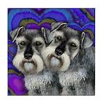 SCHNAUZER DOGS LOVE VALENTINE Tile Coaster