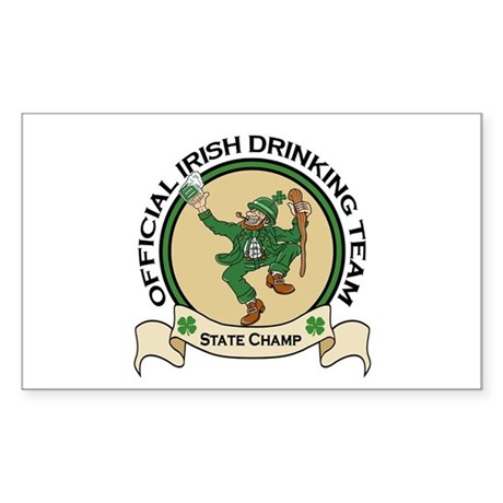 Official Irish Drinking Team Rectangle Sticker
