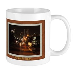 Fort Worth Skyline - Night Mug