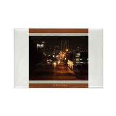 Fort Worth Skyline - Night Rectangle Magnet