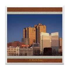 Fort Worth Skyline - Day Tile Coaster