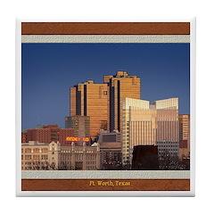 Fort Worth Skyline - Day Tile Coaster