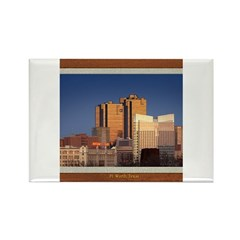 Fort Worth Skyline - Day Rectangle Magnet