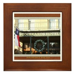 Stockyards Hotel Framed Tile