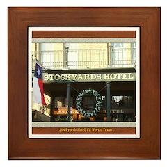 Stockyards Hotel Framed Tile