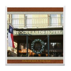 Stockyards Hotel Tile Coaster