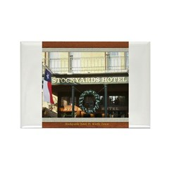 Stockyards Hotel Rectangle Magnet