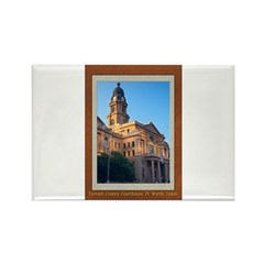Tarrant County Courthouse Rectangle Magnet