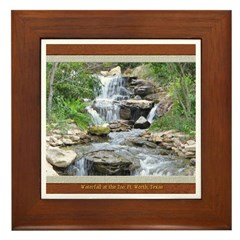 Waterfall at the Zoo Framed Tile
