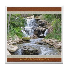 Waterfall at the Zoo Tile Coaster