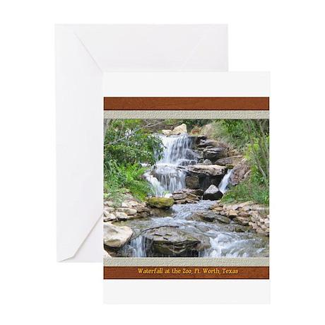 Waterfall at the Zoo Greeting Card