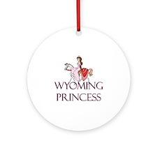 Wyoming Princess Ornament (Round)