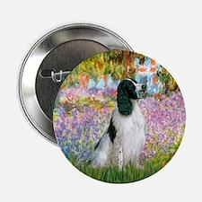 """Monet's garden & Springer 2.25"""" Button"""