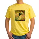 Monet's garden & Springer Yellow T-Shirt
