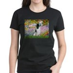 Monet's garden & Springer Women's Dark T-Shirt