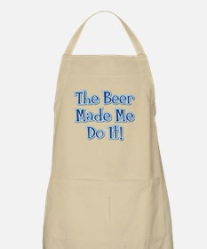 The Beer Made Me Do It! BBQ Apron