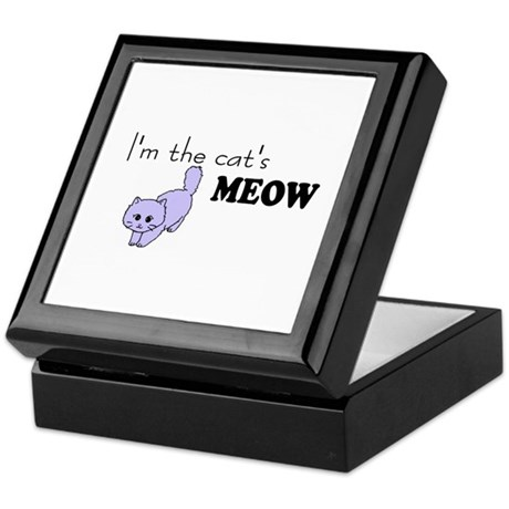 I'm the Cat's MEOW tshirts and gifts Keepsake Box