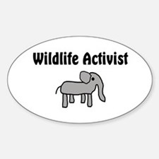 Wildlife Activist Oval Decal