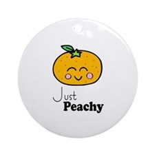 Just Peachy Cute Peach Tshirts and Gifts Ornament