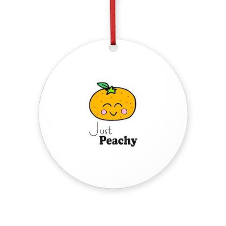 Just Peachy Cute Peach Tshirts and Gifts Ornament