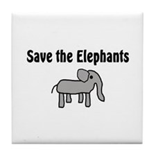 Save the Elephants Tile Coaster