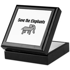 Save the Elephants Keepsake Box