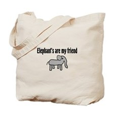 Elephants are my Friends Tote Bag